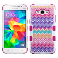 Military Grade Certified TUFF Image Hybrid Case for Samsung Galaxy Grand Prime - Camo Wave