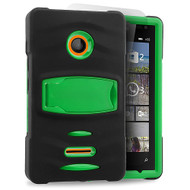 *Sale* Maximum Armor Hybrid Case for Microsoft Lumia 435 - Black Green