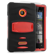*Sale* Maximum Armor Hybrid Case for Microsoft Lumia 435 - Black Red