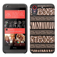 Hybrid Multi-Layer Armor Case for HTC Desire 650 / 626 / 555 / 550 / 530 - Leopard Zebra
