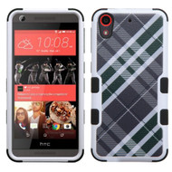 Military Grade Certified TUFF Image Hybrid Case for HTC Desire 650 / 626 / 555 / 550 / 530 - Plaid Green