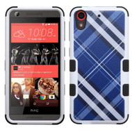 Military Grade Certified TUFF Image Hybrid Case for HTC Desire 650 / 626 / 555 / 550 / 530 - Plaid Blue