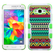 Military Grade Certified TUFF Image Hybrid Case for Samsung Galaxy Grand Prime - Tribal Sun
