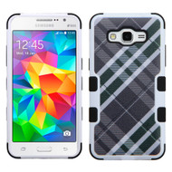 Military Grade Certified TUFF Image Hybrid Case for Samsung Galaxy Grand Prime - Plaid Green