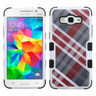Military Grade Certified TUFF Image Hybrid Case for Samsung Galaxy Grand Prime - Plaid Red