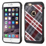 Tough Anti-Shock Hybrid Case for iPhone 6 Plus / 6S Plus - Plaid Red