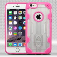 Challenger Transparent Hybrid Case for iPhone 6 Plus / 6S Plus - Hot Pink