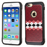 Tough Anti-Shock Hybrid Case for iPhone 6 / 6S - Modern Argyle