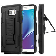 *SALE* Robust Armor Stand Protector Cover with Holster for Samsung Galaxy Note 5 - Black