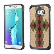 Tough Anti-Shock Hybrid Case for Samsung Galaxy S6 Edge Plus - Vintage Argyle
