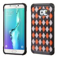 Tough Anti-Shock Hybrid Case for Samsung Galaxy S6 Edge Plus - Classic Argyle
