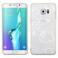 Floral Rubberized Crystal Case for Samsung Galaxy S6 Edge Plus - White