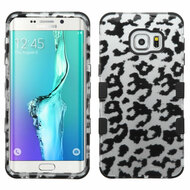 Military Grade Certified TUFF Image Hybrid Case for Samsung Galaxy S6 Edge Plus - Leopard Silver
