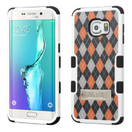 Military Grade Certified TUFF Image Hybrid Kickstand Case for Samsung Galaxy S6 Edge Plus - Classic Argyle