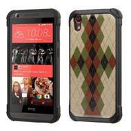 Tough Anti-Shock Hybrid Case for HTC Desire 650 / 626 / 555 / 550 / 530 - Vintage Argyle