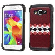 Tough Anti-Shock Hybrid Case for Samsung Galaxy Core Prime / Prevail LTE - Modern Argyle