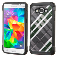 Tough Anti-Shock Hybrid Case for Samsung Galaxy Grand Prime - Plaid Green