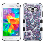 Military Grade Certified TUFF Image Hybrid Case for Samsung Galaxy Grand Prime - Persian Paisley