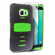 *Sale* Maximum Armor Hybrid Case for Samsung Galaxy S6 Edge Plus - Black Green