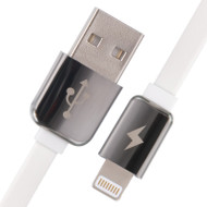Luxmo Scented Aluminum Terminal Lightning Connector to USB Charging and Sync Cable - White