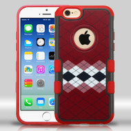 Military Grade Certified TUFF Merge Graphic Hybrid Case for iPhone 6 / 6S - Modern Argyle