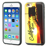 Slidable Card Wallet Hybrid Case for iPhone 6 / 6S - California Love Sunset
