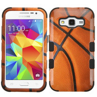 Military Grade TUFF Image Hybrid Case for Samsung Galaxy Core Prime / Prevail LTE - Basketball