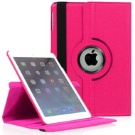 *SALE* 360 Degree Smart Rotating Leather Case for iPad Mini 4 - Hot Pink