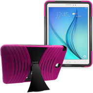 Shockproof Armor Kickstand Case for Samsung Galaxy Tab A 9.7 - Hot Pink