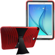 Shockproof Armor Kickstand Case for Samsung Galaxy Tab A 9.7 - Red