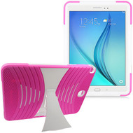 Shockproof Armor Kickstand Case for Samsung Galaxy Tab A 9.7 - Hot Pink White