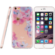 Graphic Rubberized Protective Gel Case for iPhone 6 Plus / 6S Plus - Flower
