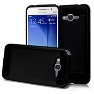 Brushed Hybrid Armor Case for Samsung Galaxy Grand Prime - Black
