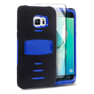 *Sale* Maximum Armor Hybrid Case for Samsung Galaxy S6 Edge Plus - Black Blue