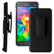 *SALE* Armor Shell Case with Holster Combo for Samsung Galaxy Core Prime / Prevail LTE - Black