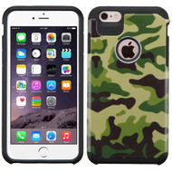 Hybrid Multi-Layer Armor Case for iPhone 6 Plus / 6S Plus - Camouflage Green