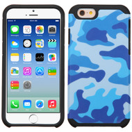 Hybrid Multi-Layer Armor Case for iPhone 6 / 6S - Camouflage Blue