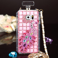 Glitzy Perfume Bottle Jewel Case for Samsung Galaxy Note 5 - Peacock