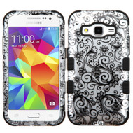 Military Grade Certified TUFF Image Hybrid Case for Samsung Galaxy Core Prime / Prevail LTE - Leaf Black