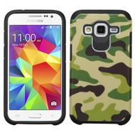 Hybrid Multi-Layer Armor Case for Samsung Galaxy Core Prime / Prevail LTE - Camouflage Green