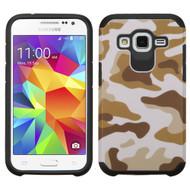*SALE* Hybrid Multi-Layer Armor Case for Samsung Galaxy Core Prime / Prevail LTE - Camouflage Brown