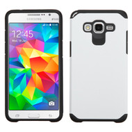 Hybrid Multi-Layer Armor Case for Samsung Galaxy Grand Prime - White