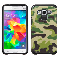 Hybrid Multi-Layer Armor Case for Samsung Galaxy Grand Prime - Camouflage Green