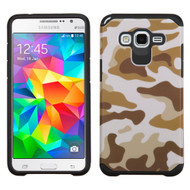 Hybrid Multi-Layer Armor Case for Samsung Galaxy Grand Prime - Camouflage Brown