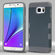 Military Grade Certified TUFF Trooper Dual Layer Hybrid Case for Samsung Galaxy Note 5 - Ink Blue Grey
