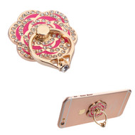 Adhesive Ring Stand - Flower Diamond Hot Pink