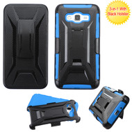 *SALE* Tough Armor Hybrid Kickstand Case with Holster for Samsung Galaxy Grand Prime - Black Blue
