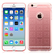 Perforated Transparent Cushion Gelli Skin Cover for iPhone 6 / 6S - Rose Gold