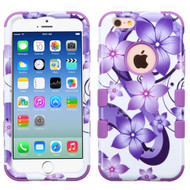 *SALE* Military Grade TUFF Image Hybrid Case for iPhone 6 / 6S - Hibiscus Flower Romance Purple