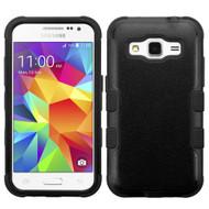 *SALE* Military Grade TUFF Hybrid Case for Samsung Galaxy Core Prime / Prevail LTE - Black